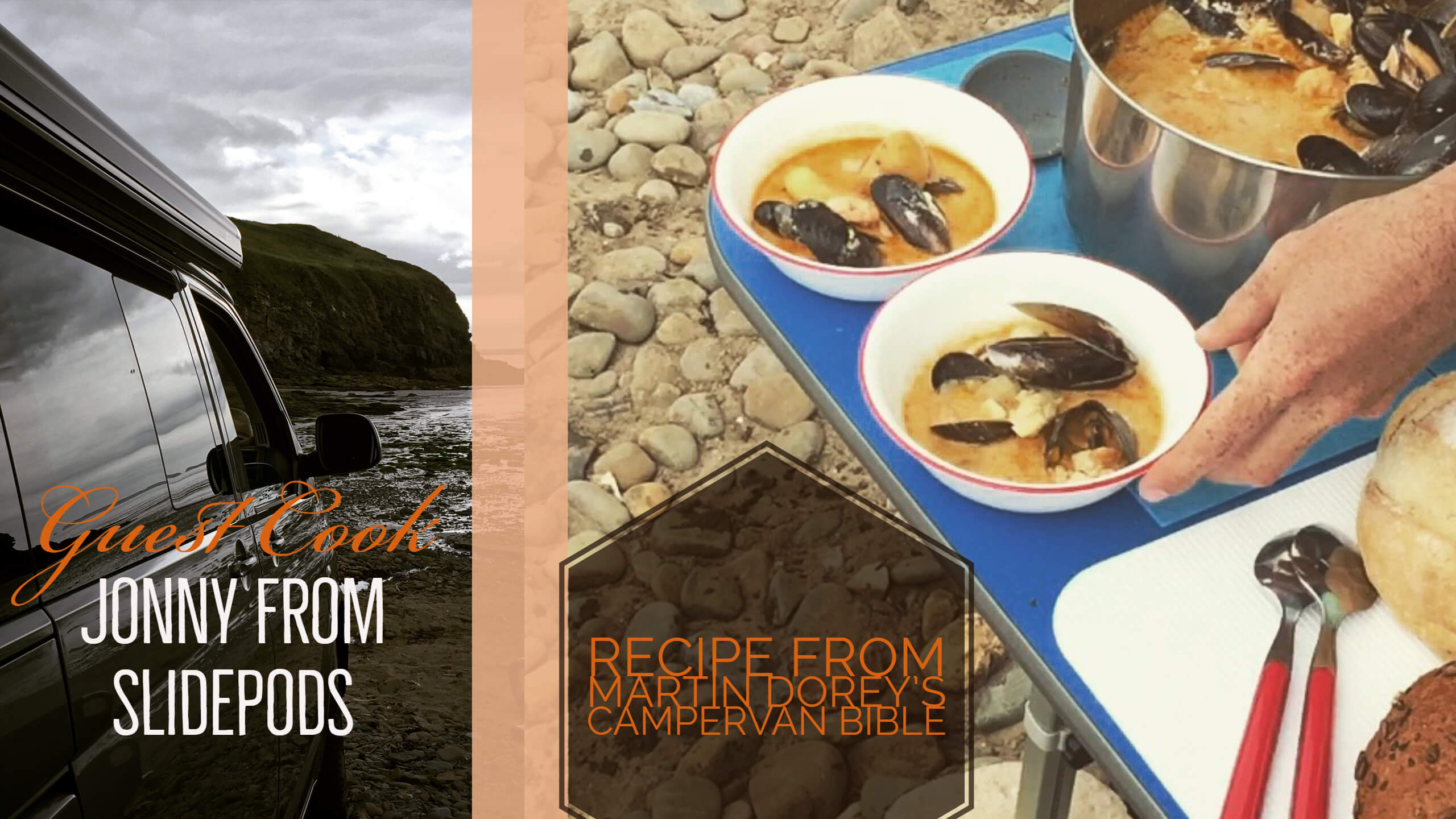 Cooking on the beach – Seafood and Sweetcorn Chowder.